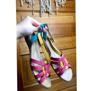 Naturalizer Colorful 90s Sandals Velcro Strap